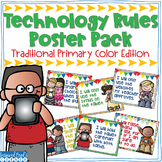 Technology Rules Poster Pack with Primary Colors