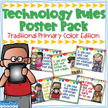Technology Rules Poster Pack {Primary Colors Edition}