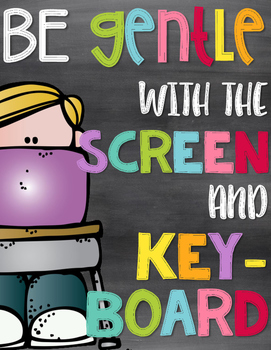 Technology Rules Posters | Chalkboard & Brights Theme