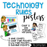 Technology Rules Posters-Digital Citizenship