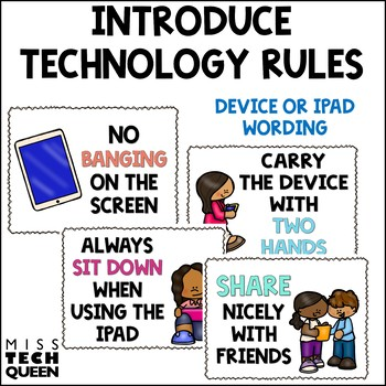 Technology Rules Posters   Digital Citizenship