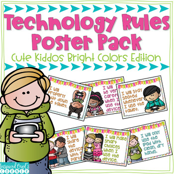 Technology Rules Poster Pack {Bright Colors Edition}