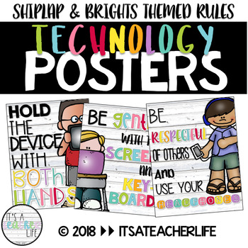 Technology Rules Posters | Shiplap & Brights Theme