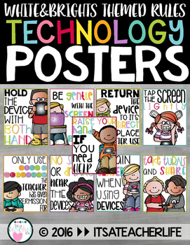 Technology Rules Posters   White & Brights Theme