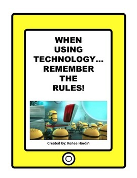 Technology Rules: Posters to display in classroom