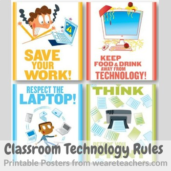 Technology Rules Printable Posters