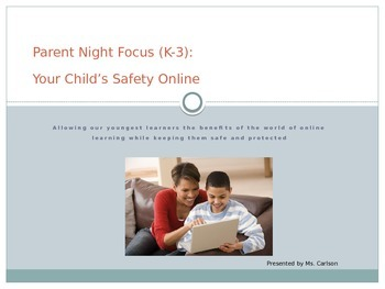 Technology Safety PowerPoint (internet, cell, gaming) - Parent Night