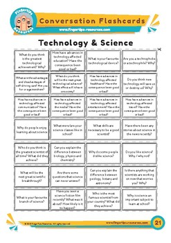 Technology & Science - Conversation Flashcards