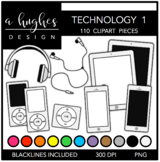 Technology Set 1 Clipart {A Hughes Design}