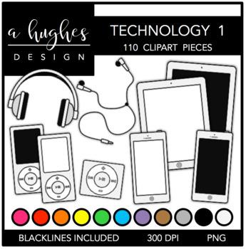 Technology Set 1 Clipart {A Hughes Design}