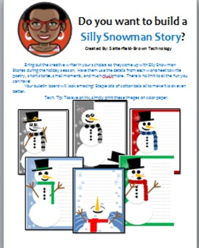 Technology: Silly Snowman Stories