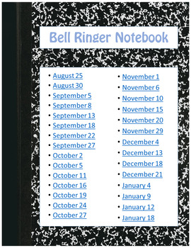 Technology Skills Bell Ringer Digital Interactive Notebook
