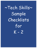 Technology Skills Checklist for Grades K-2