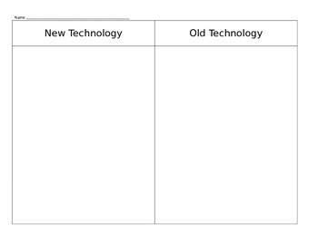 Technology Sort--New and Old