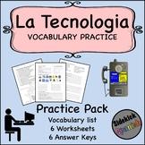 Technology Spanish Vocabulary Worksheets (Así Se Dice Lev 2, Chapter 6)