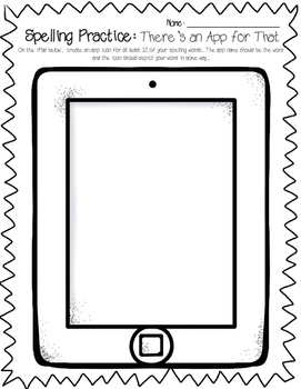 Word Work: iPhone Texting, Apps & Instagram (Technology Spelling Worksheets)