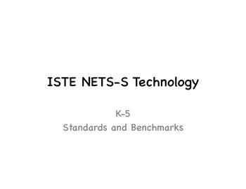 Technology Standards K-5 for classroom