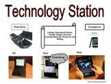 Elementary Literacy Center Sign: Technology Station