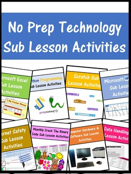 Emergency Sub Technology Teacher Lesson Activities (No Prep required)