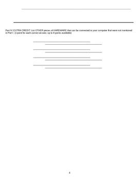 Technology Summative Assessment: Computer Hardware &  Microsoft Software