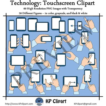 Technology Tablet and Phone Touchscreen Clipart