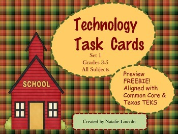 Technology Task Cards Preview Freebie