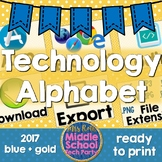 Technology Terms Alphabet Poster