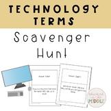 Technology Terms Scavenger Hunt