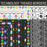 Technology Theme - 14 Borders, Frames, Clip Art