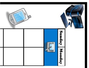 Technology Theme Classroom Calendar! Technology Bulletin B