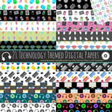 Technology Theme Digital Paper - 21 Papers (A)