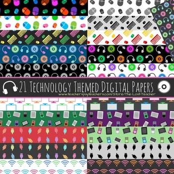 Technology Theme Digital Paper - Set B - 21 Papers
