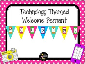 Technology Theme Welcome Pennant