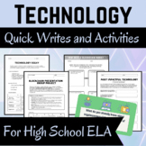 Technology Themed Activities for High School English Language Arts