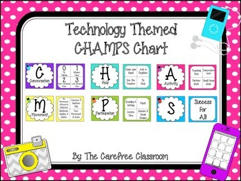 CHAMPS Behavioral Chart: Technology Themed