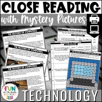 Technology Themed Close Reading Comprehension Passages | ELA Test Prep Review