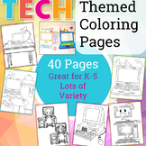 UNPLUGGED Technology Themed Coloring Pages