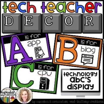 Technology Themed Decor Alphabet Line