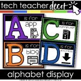 Technology Themed Decor Alphabet Line