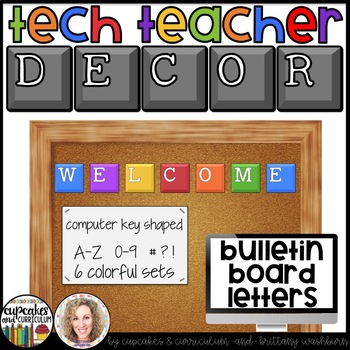 Technology Themed Decor Bulletin Board Letters
