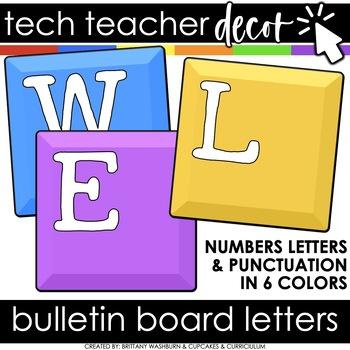 Technology Themed Decor Bulletin Board Letters