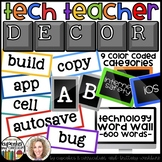 Technology Themed Decor Classroom Word Wall Cards