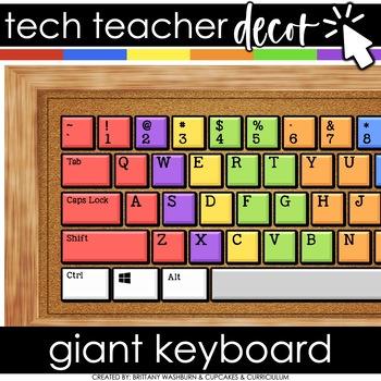 Technology Themed Decor Giant Keyboard