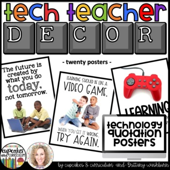 Technology Themed Decor Quote Posters