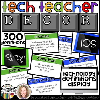 Technology Themed Decor Vocabulary Posters