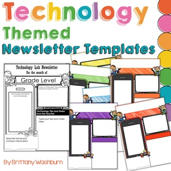 Technology Themed Newsletter Templates