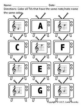 Technology Themed Note Reading Worksheet Bundle