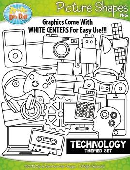 Technology Picture Shapes Clipart {Zip-A-Dee-Doo-Dah Designs}