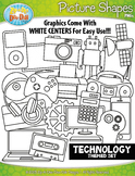 Technology Picture Shapes Clipart {Zip-A-Dee-Doo-Dah Designs}