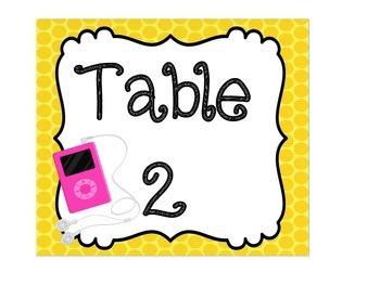 Table Signs: Technology Themed